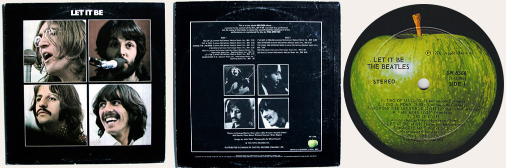Let It Be 1972 Reissue Canadian LP