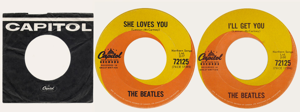 She Loves You Canadian 45
