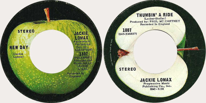 Jackie Lomax New Day Canadian Apple 45