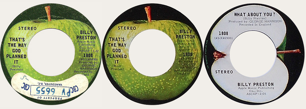 Billy Preston That's The Way Canadian Apple 45