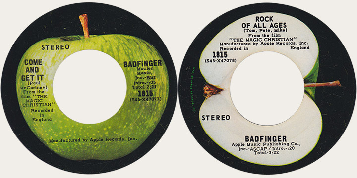 Badfinger Come And Get It Canadian Apple 45
