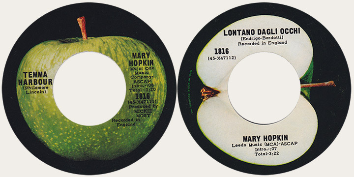 Mary Hopkin Temm Harbour Canadian Apple 45