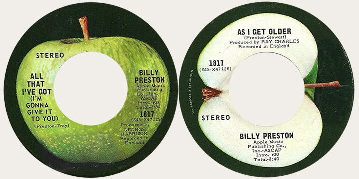 Billy Prestin All That I've Got Canadian Apple 45