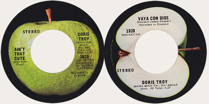 Doris Troy Ain't That Cute Canadian Apple 45