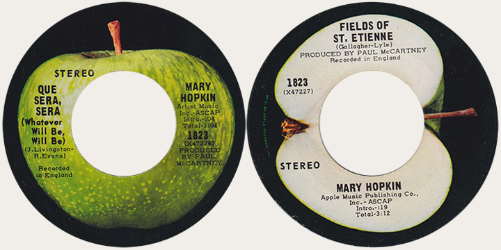 Mary Hopkin QUe Sera Sera Canadian Apple 45