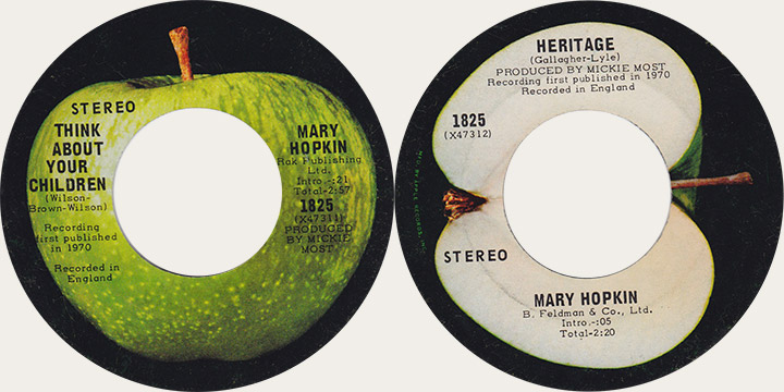 Mary Hopkin Think About Your Children Canadian Apple 45