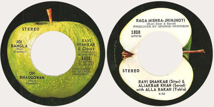 Ravi Shankar Joi Bangla Canadian Apple 45