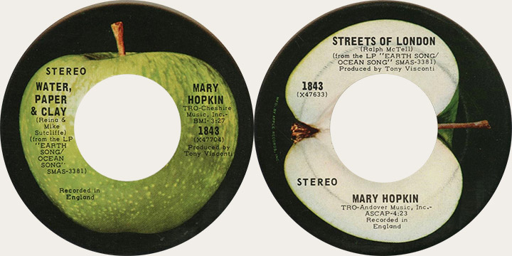 Mary Hopkin Water Paper and Clay Canadian Apple 45