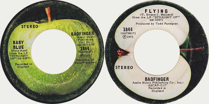 Badfinger Baby Blue Canadian Apple 45