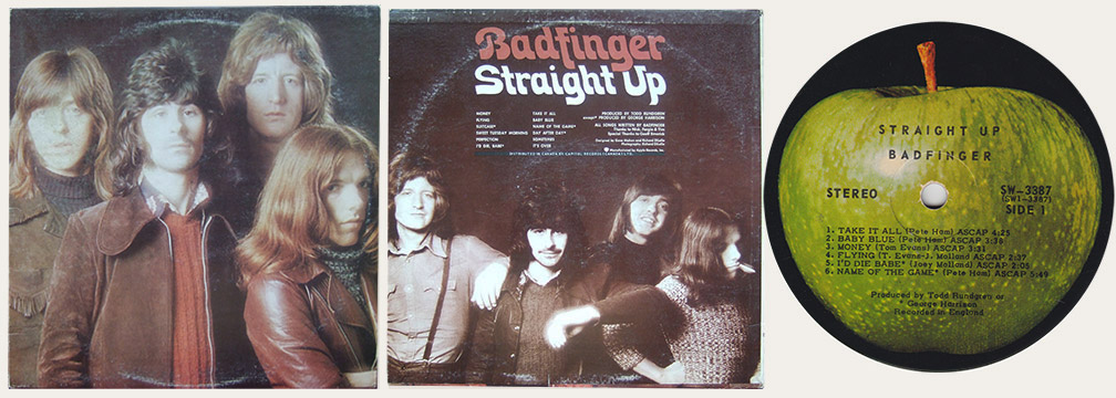 Badfinger Straight Up Canadian LP