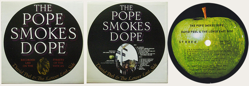 David Pell The Pope Smokes Dope Canadian LP