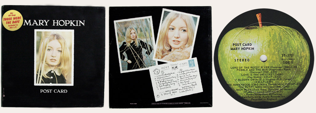 Mary Hopkin Postcard Canadian LP