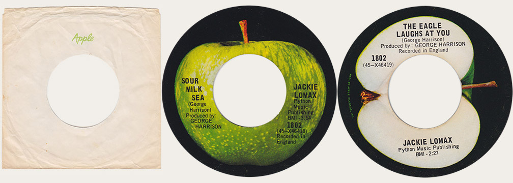 Jackie Lomax Sour Milk Sea Canadian Apple 45