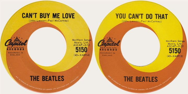 Can't Buy me Love Canadian 45