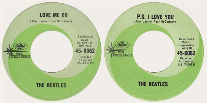 Love Me Do Canadian Starline 45