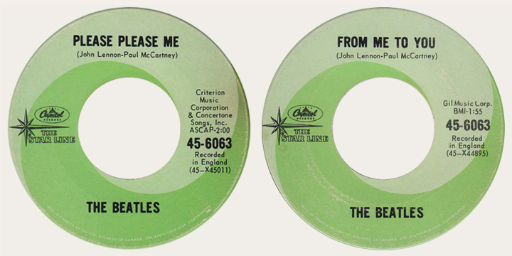 Please Please Me Canadian Starline 45