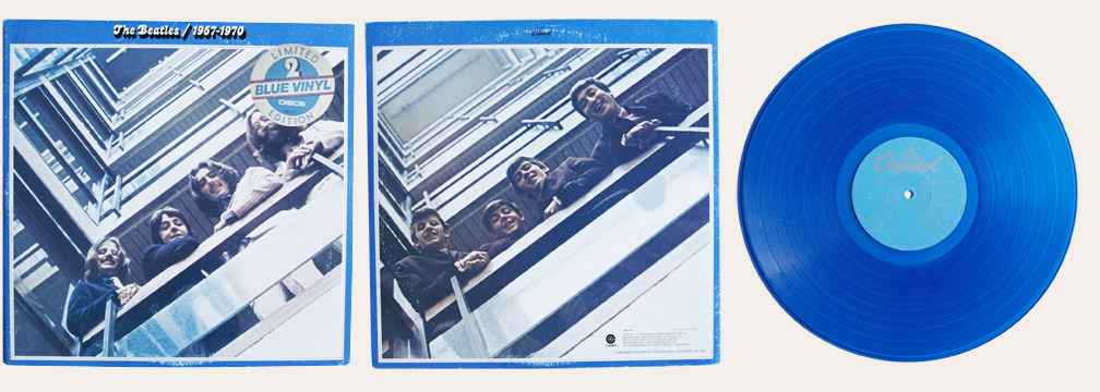 Blue Album Blue Vinyl Canadian LP