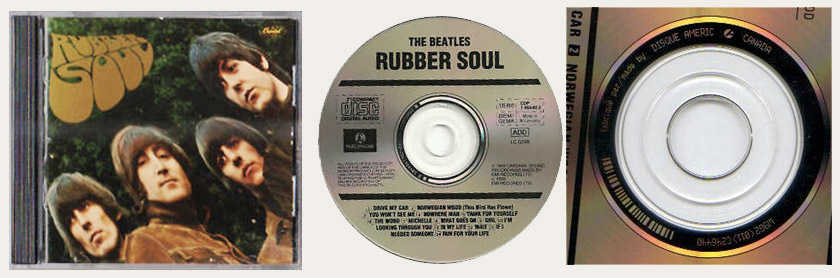 Rubber Soul Disc Amerik Canadian CD