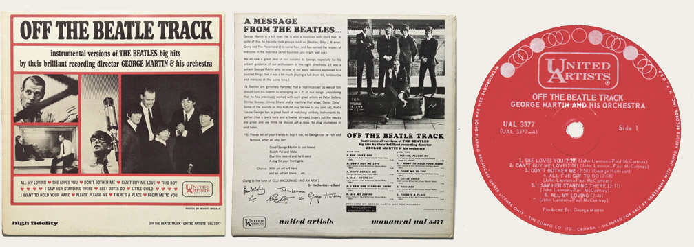 off the beatles tracks lp
