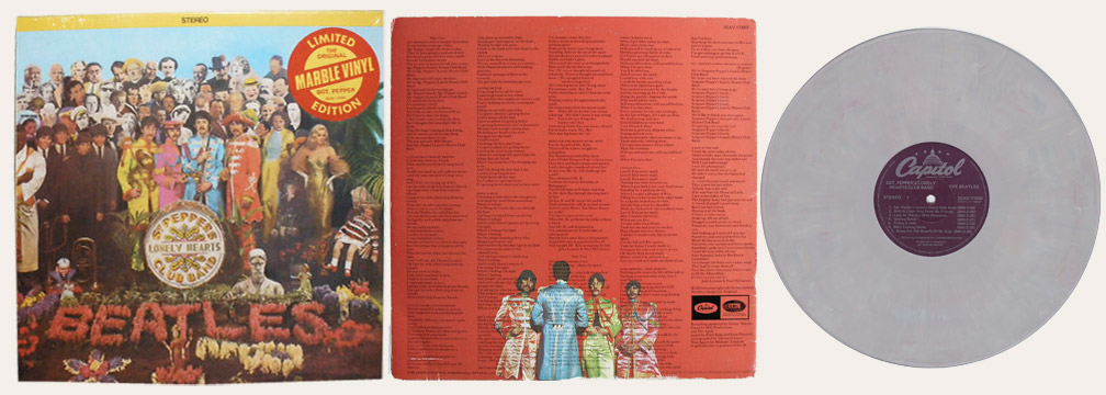 Sgt Pepper's Marbled Vinyl Canadian LP