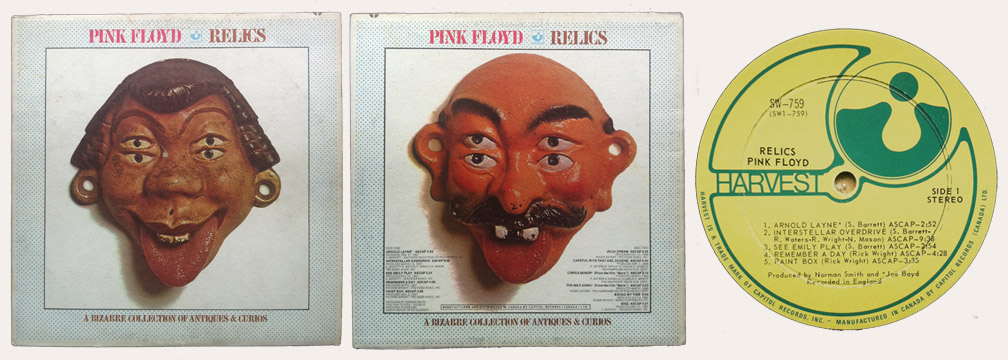 Pink Floyd Relics Canadian LP
